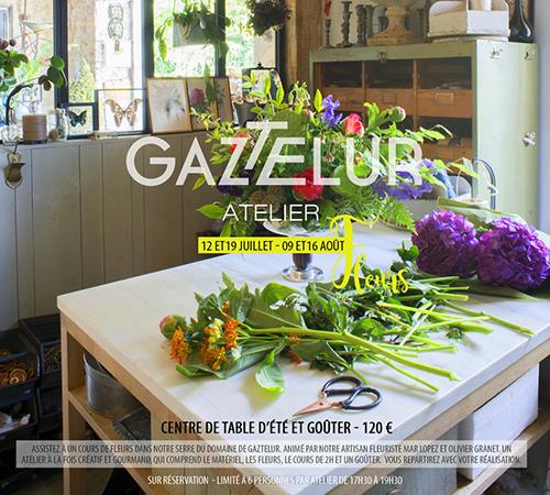 Gaztelur Atelier De Fleurs Centre De Table D Ete Juillet Et Aout 2017